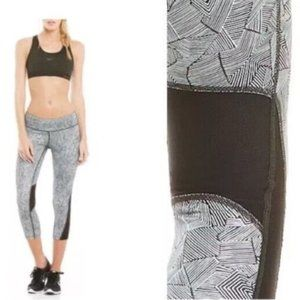 Nike Dri-FIT Racer Crop 3.0 Tights Running Leggings, Size XS, Black and White